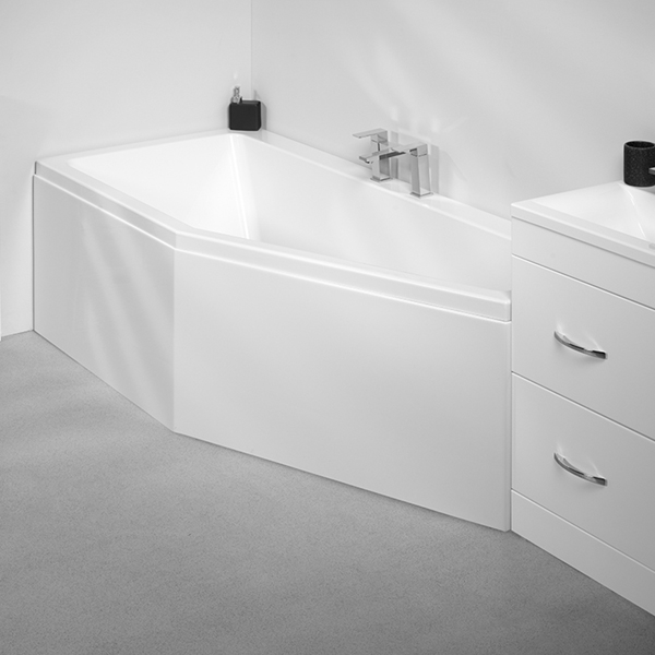 VitrA Neon Space Saver Bath Right Handed 1700mm x 750mm 0 Tap Hole-0