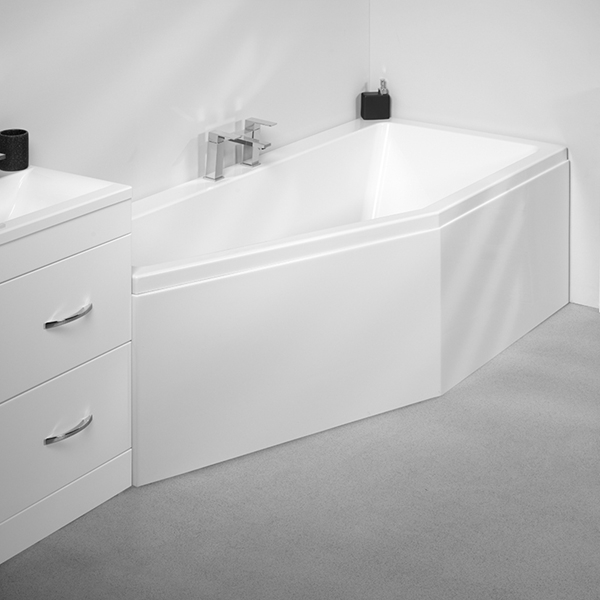 VitrA Neon Space Saver Bath Left Handed 1700mm x 750mm 0 Tap Hole-0
