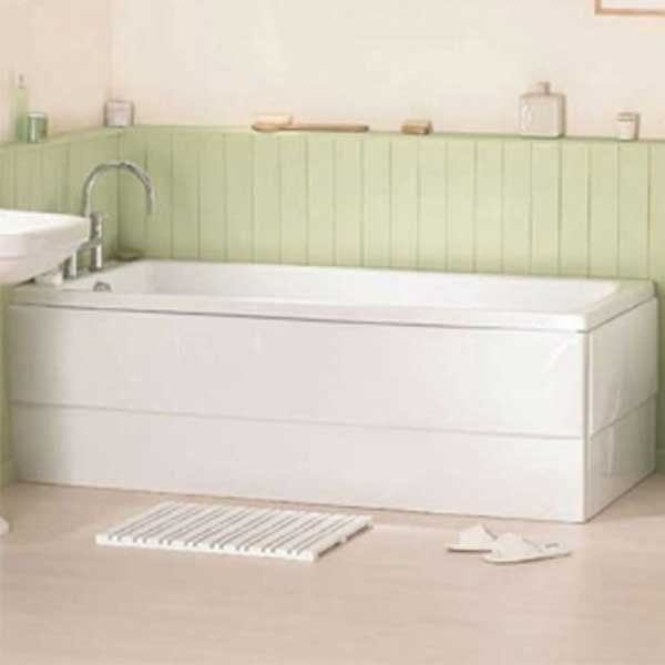 VitrA Optima Single Ended Rectangular Bath 1600mm X 700mm 0 Tap Hole-0