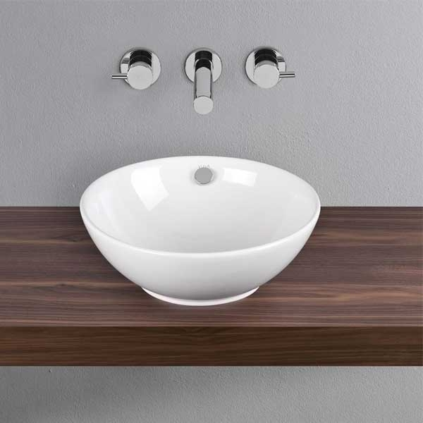 Vitra Option Countertop Basin & Overflow 430mm Wide 0 Tap Hole-0