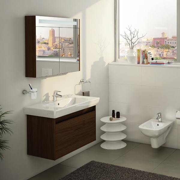 Vitra S20 Vanity Basin 650mm Wide 1 Tap Hole-0