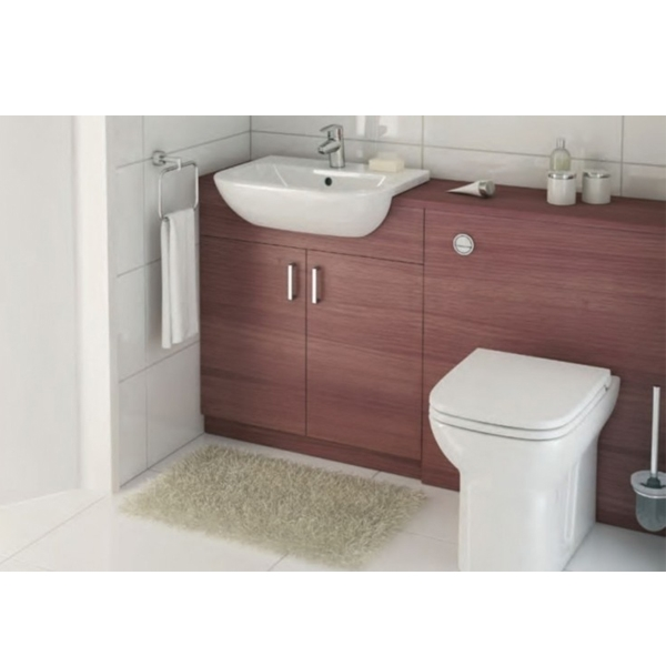 Vitra S20 Semi Recessed Basin 550mm Wide 1 Tap Hole-0
