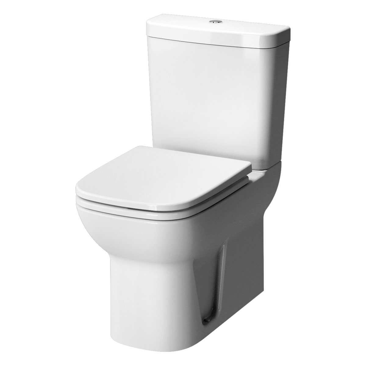 VitrA S20 Cloakroom Suite Toilet and 450mm 1 Tap Hole Basin - Soft Close Seat-0