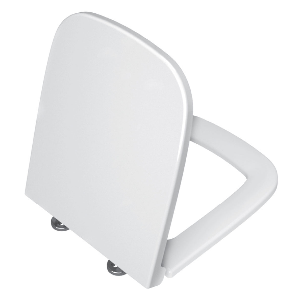 VitrA S20 Cloakroom Suite Toilet and 450mm 1 Tap Hole Basin - Soft Close Seat-1