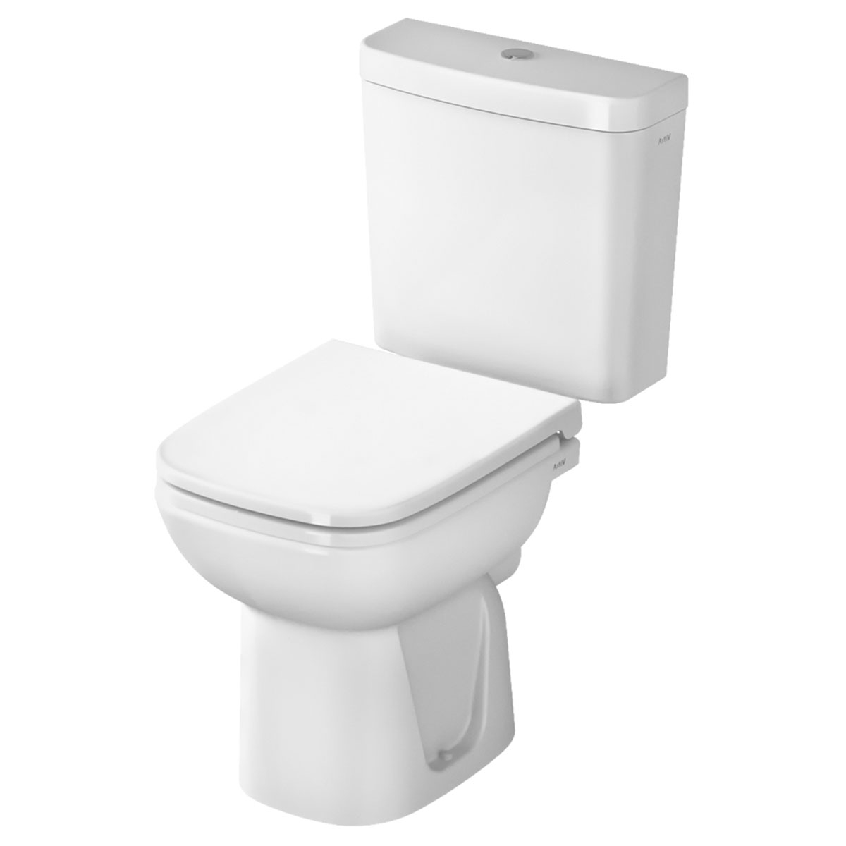 VitrA S20 Cloakroom Suite Toilet and 450mm 2 Tap Hole Basin-1