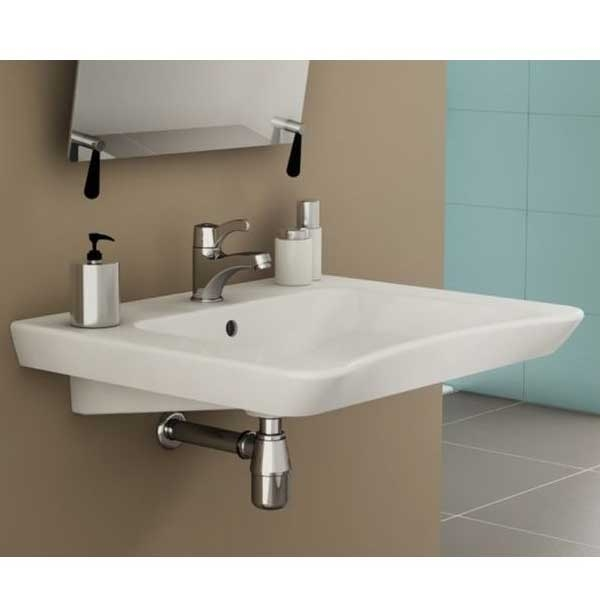 Vitra S20 Compact Washbasin 650mm Wide 1 Tap Hole-0