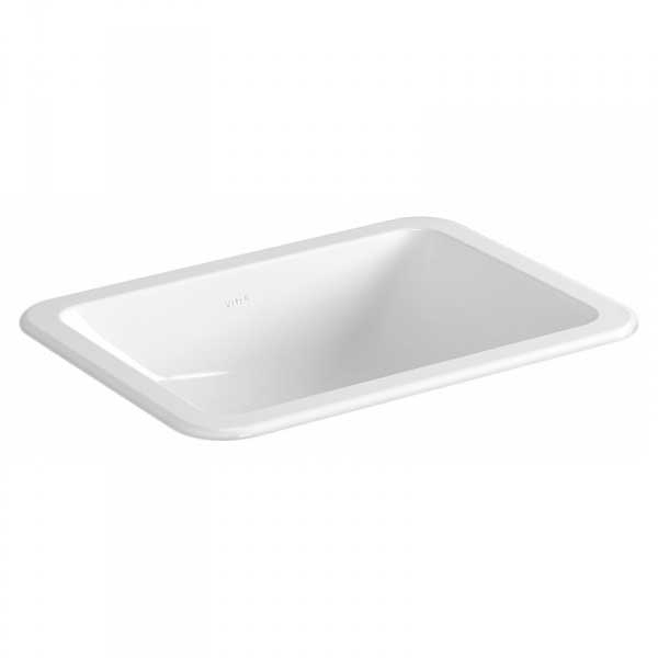 Vitra S20 Compact Countertop Basin with Front Overflow 500mm Wide - 0 Tap Hole