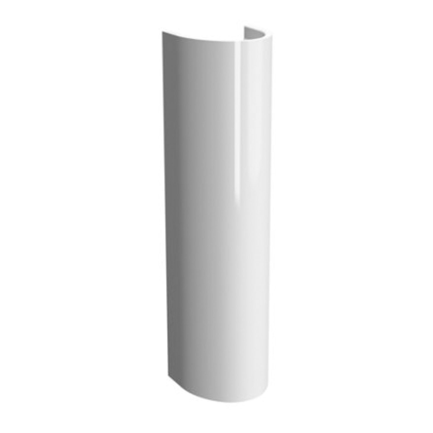 Vitra S50 Round Basin & Full Pedestal 650mm Wide 1 Tap Hole-1