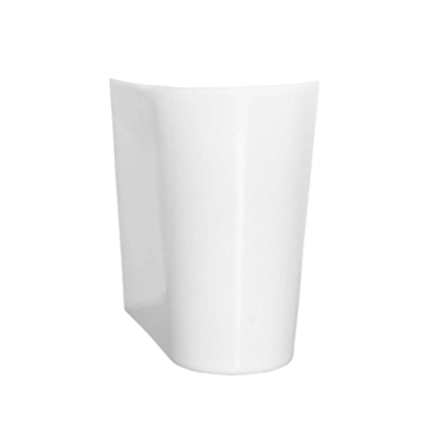 Vitra S50 Square Basin and Semi Pedestal 650mm Wide 1 Tap Hole