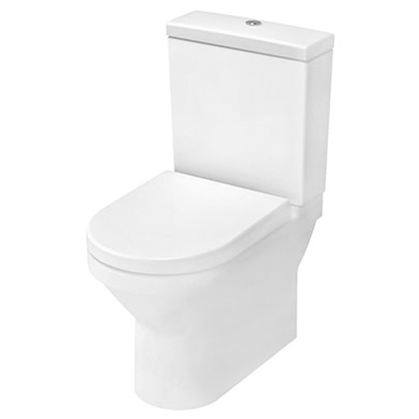 VitrA S50 Compact Close Coupled BTW Toilet WC Push Button Cistern - Soft Close Seat-1