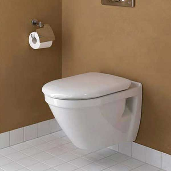 VitrA S50 480mm Short Projection Wall Hung Toilet WC - Soft Close Seat-0