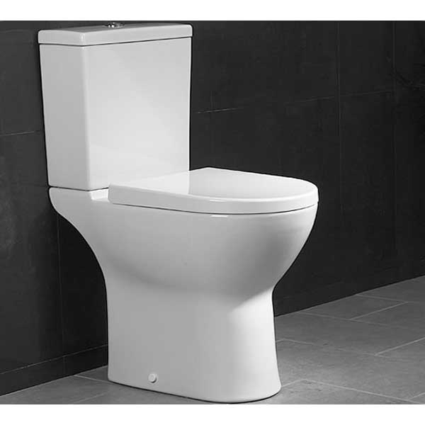 VitrA S50 Comfort Height Close Coupled Toilet WC Push Button Cistern - Soft Close Seat-0