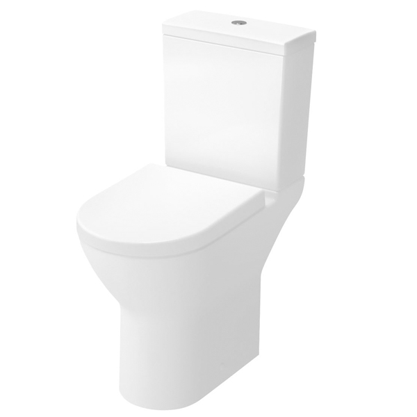 VitrA S50 Comfort Height Close Coupled Toilet WC Push Button Cistern - Soft Close Seat