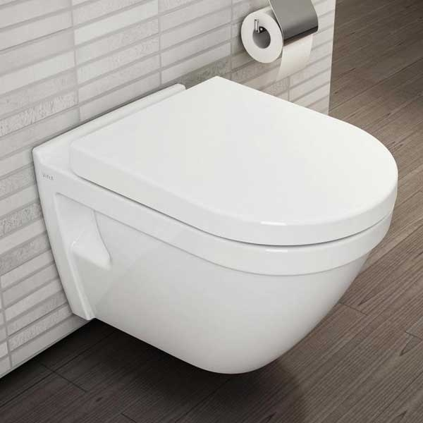 VitrA S50 Wall Hung Toilet WC Rimless - Soft Close Seat-0