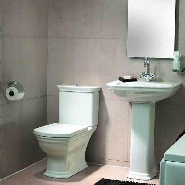 VitrA Serenada Close Coupled Toilet WC Push Button Cistern - Standard Seat