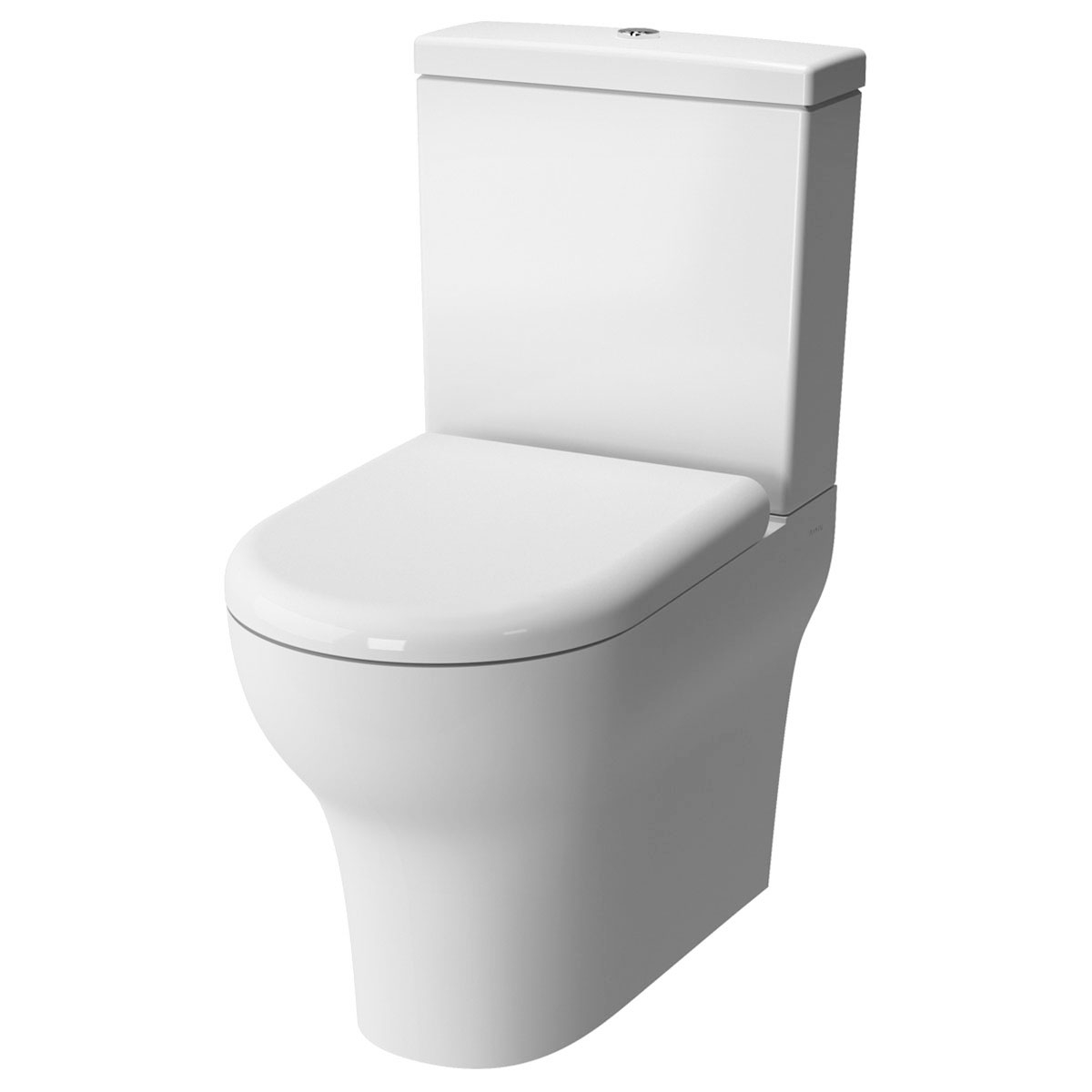 VitrA Zentrum Bathroom Cloakroom Suite Close Coupled Toilet 1 Tap Hole Basin - Soft Close Seat-1