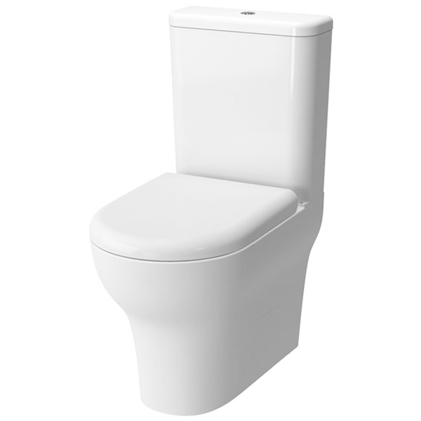 VitrA Zentrum Close Coupled BTW Toilet WC Push Button Cistern - Standard Seat