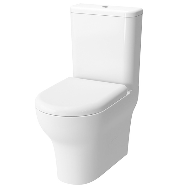 VitrA Zentrum Close Coupled BTW Toilet WC Push Button Cistern - Soft Close Seat