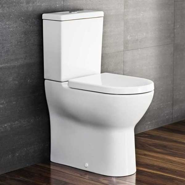 VitrA Zentrum Close Coupled OB Toilet WC Push Button Cistern - Standard Seat-0