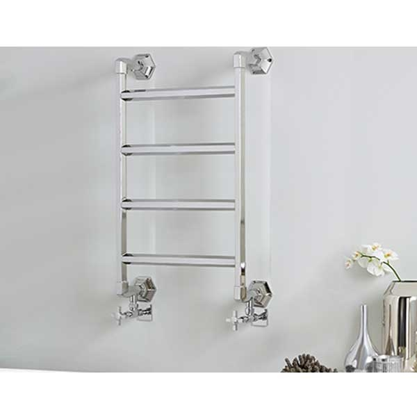 Vogue Art Moderne 4 Heated Towel Rail 835mm H x 700mm W Dual Fuel