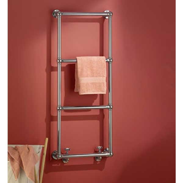 Vogue Ballerina BJ Traditional Heated Towel Rail 1575mm H x 675mm W Central Heating