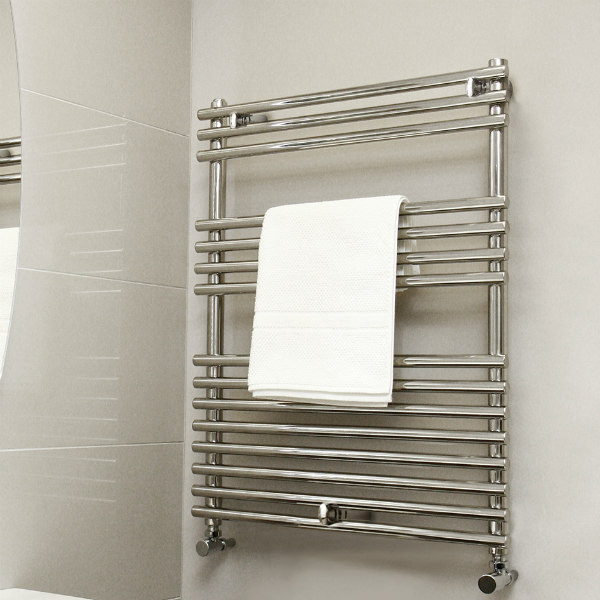 Vogue Stella Heated Towel Rail 800mm H x 600mm W Dual Fuel
