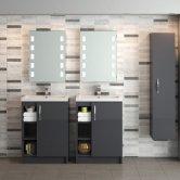 Hudson Reed Apollo Grey Gloss Bathroom Furniture