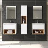 Hudson Reed Coast Gloss White Bathroom Furniture