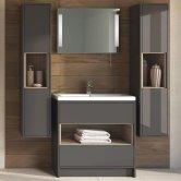 Hudson Reed Coast Grey Gloss Bathroom Furniture