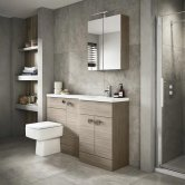 Hudson Reed Driftwood Compact Fitted Bathroom Furniture