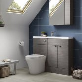 Hudson Reed Grey Avola Compact Fitted Bathroom Furniture