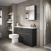 Hudson Reed Hacienda Black Compact Fitted Bathroom Furniture