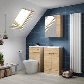 Hudson Reed Natural Oak Fitted Bathroom Furniture