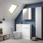 Hudson Reed White Compact Fitted Bathroom Furniture