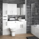 Hudson Reed White Fitted Bathroom Furniture