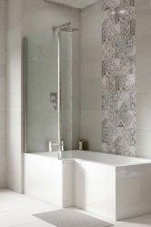 L-Shaped Shower Baths